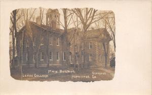 Hopkinton Iowa~Long Arch Belltower Windows~Leniox College Main~Sepia RPPC c1910