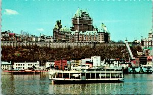 Ferry S/S Radisson St Lawrence River Quebec Levis Canada Postcard unused 1950s