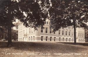 RP: MOUNT VERNON , Iowa , 30-40s ; Law Memorial , Cornell College