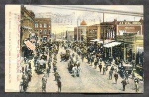 dc332 - MUSKOGEE Okla 1908 Elks' Parade on Second Street. Flag Cancel