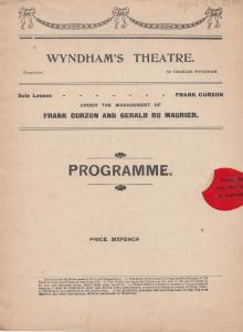 Passers By Gerald Du Maurier George Shelton London Wyndhams Theatre Programme