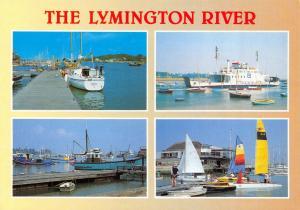Hampshire Postcard, The Lymington River, Multi View by J. Salmon Ltd O47