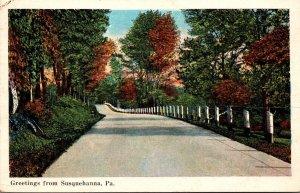 Pennsylvania Greetings From Susquehanna 1936