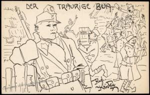Germany WWI Feldpost Service Illustration Patriotic Card 77316