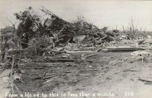 RP: BUNKERHILL , Illinois , 1948 ; Tornado destroyed home in 1 min