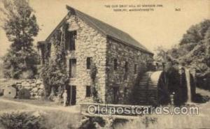Old Grist Mill, Wayside Inn Sudbury, MA, USA Postcard Post Cards Old Vintage ...
