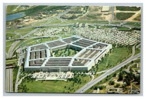 Vintage 1940's Postcard Pentagon World War II Washington DC