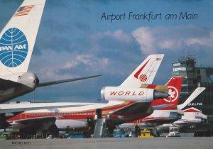 Frankfurt AM Main PanAm Plane German Airport Postcard