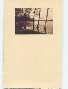 1922 rppc TREES ALONG THE SHORELINE Stockholm Sweden HM1540