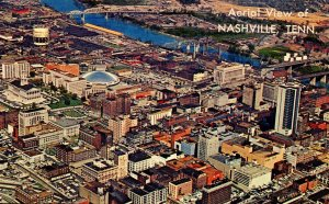 TN - Nashville. Aerial View in the mid-1960's