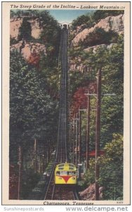 Steep Grade Of The Incline Lookout Mountain Chattanooga Tennessee 1953