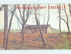 Unused Pre-1980 DAVY CROCKETT BIRTHPLACE Limestone Tennessee TN d0494