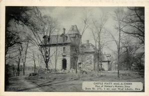 West Liberty Ohio~Castle Piatt Mac-A-Cheek in Winter~French Chateau Rt 275 B&W