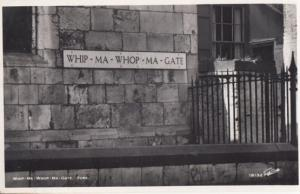 Whip-Ma-Whop-Ma-Gate Yorkshire Funny Sign Vintage Postcard