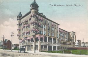 The Rittenhouse, Atlantic City, New Jersey, early hand colored postcard, Unused