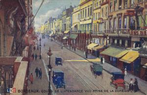 BORDEAUX, Gironde, France, 1900-1910´s; Cours de Lintendance vue prise de la...