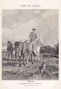 Troyon En Route Pour Le Marche, Musee du Louvre, Horse, cows, hunting dogs, F...
