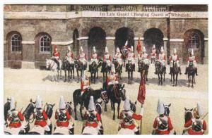 1st Life Guard Changing Guard at Whitehall London British Army Military postcard