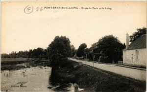 CPA  Fontenay-sur-Loing - Route de Paris et le Loing  (632033)