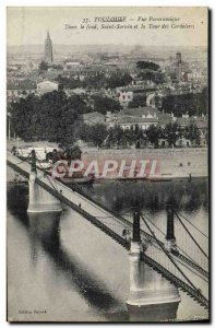Postcard Old Toulouse Panoramic Basically Saint Sernin and the Tower of the C...