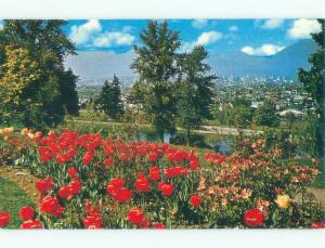 Pre-1980 VIEW FROM LITTLE MOUNTAIN AT QUEEN ELIZABETH PARK Vancouver BC c8508