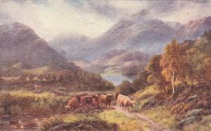 Painting of cows in a valley, 00-10s
