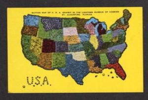 FL Button Map US States Museum ST AUGUSTINE FLORIDA PC