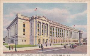 U.S. Post Office, Court House, Custom House, LOUISVILLE, Kentucky, PU-1942