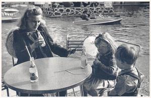 London Battersea Park, Festivan Fun Fair, Mother Two Children, Nostalgia Reprint