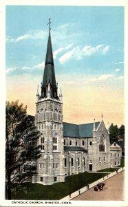 Connecticut Winsted Catholic Church Curteich