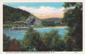 WEST VIRGINIA, 1900-1910's; National Highway View Of The Ohio River Near Whee...