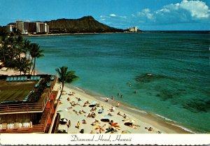 Hawaii Waikiki Beach View Of Diamond Head