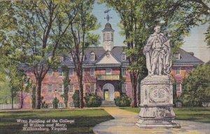 Wren Building Of The College Of William and Mary Williamsburg Virginia 1950