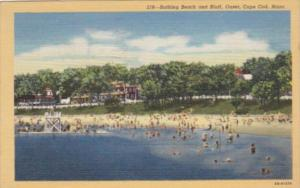Massachusetts Cape Cod Bathing Beach and Bluff At Onset 1947 Curteich