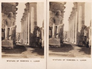 Statues Of Rameses II Luxor 2x Old Sculpture Cigarette Card s