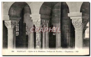 Postcard Old Vezelay Madeleine Church Narthex Tribune