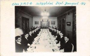 F52/ St Louis Missouri RPPC Postcard 1917 YMCA Banquest Interior