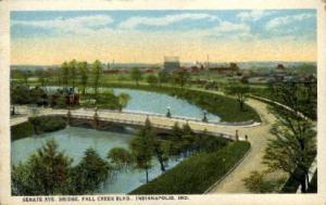 Senate AVE. Bridge, Fall Creek BLVD. Indianapolis IN unused