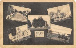 Hamilton Indiana Vignettes~Main Street~Churches~Public School~Fish Lake~1911 B&W