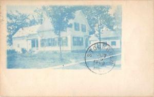 Maine Stockholm Residence Blue Cyanotype Real Photo Antique Postcard J72677