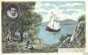 Henry Hudson Half Moon, Hudson River, New York, NY USA Sailboat Unused crease...