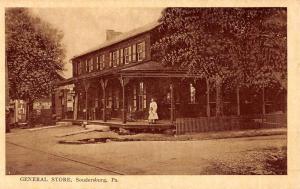 Soudersburg Pennsylvania General Store Street View Antique Postcard K51069