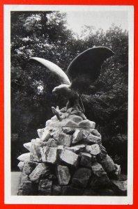 220005 Russia YESSENTUKI Statue EAGLE Attack SNAKE real photo VTG pc 1957 RPPC