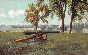 F53/ Fostoria Ohio Postcard 1909 Old Cemetery Cannon Rotograph