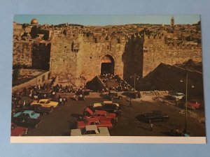 Vintage Jerusalem – Damascus Gate with vintage cars