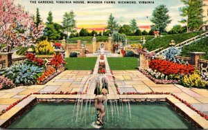Virginia Richmond Windsor Farms The Gardens At Virginia House 1951