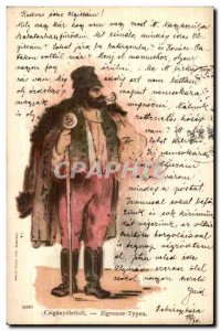 Fantasy - Men - Hunter in thick fur cape with pipe (Hungarian chart Hungary H...