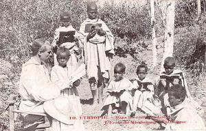 Ethiopia Dans les contrees des Galla, L'Ecole du Mission