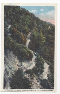Mt Lowe CA Horse Shoe Curve Vintage Scenic California Postcard