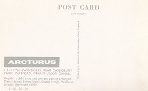 Arcturus Guided Watford Boat Canal Tours 1970s Advertising Postcard